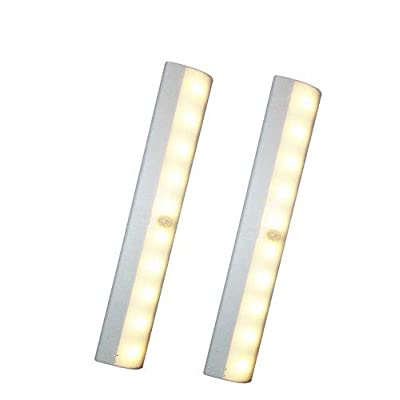 New-2-Pack-10-LED-Motion-Sensing-Closet-Light-with-Sensor,-Stick-On-Battery-Powered-Motion-Activated-Night-Light-Also-for-Cabinet,-Pantry,-Walkway,-Basement,-Stairway-(White---Warm-White)