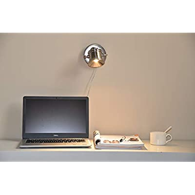 6-in.-LED-6W-Accent-Uplight,-Directional-Adjustable-Portable-Desk-Spot-Light-for-Household-Highlight-Room-Details,-Multi-Purpose-for-Desk-&-Wall-Mount-with-On/Off-Switch-Satin-Nickel-Finish