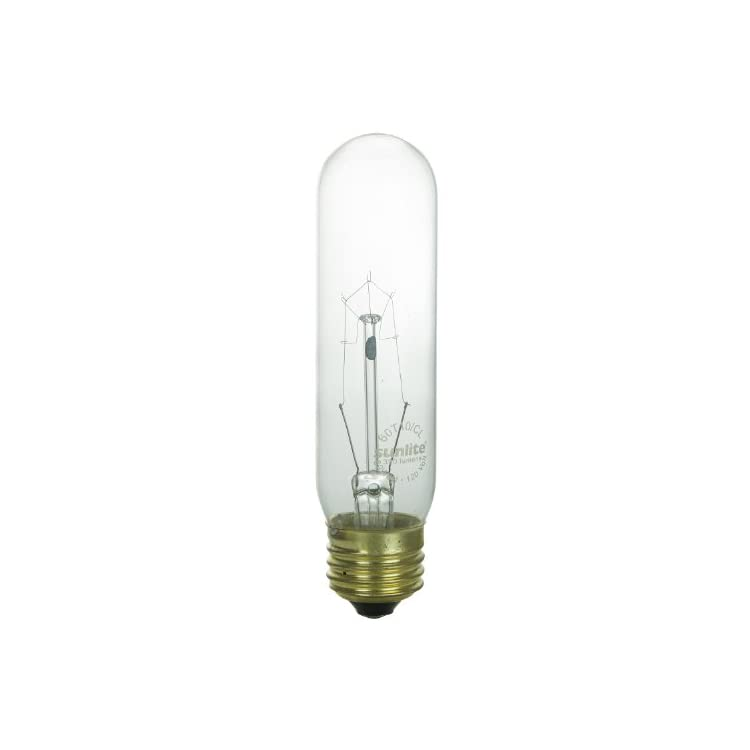 25T10/CL-Incandescent-25-Watt,-Medium-Based,-T10-Tubular-Bulb,-Clear