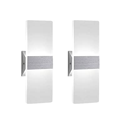 Modern-Wall-Sconce-12W,-Set-of-2-LED-Wall-Lamp-Cool-White,-Acrylic-Material-Wall-Mounted-Wall-Lights