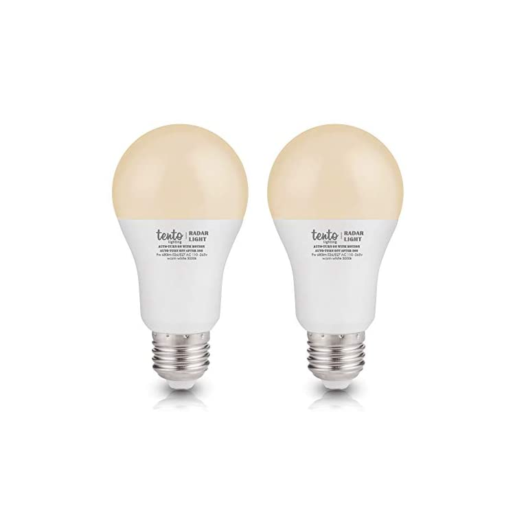 Motion-Sensor-Light-Bulb-3000k-LED-Night-Light-Bulb-Security-Auto-On-9-Watts-60w-Equivalent-Built-in-Radar-Dusk-to-Dawn-Super-Sensitive-Motion-Sensor-Lighting-2-Pack-Soft-Warm-White