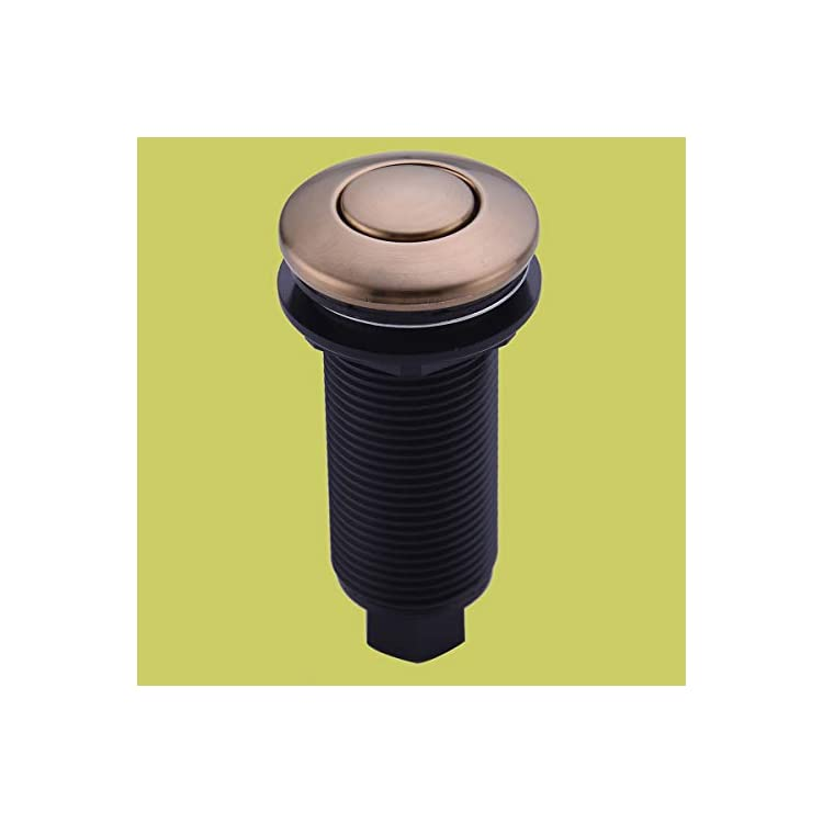 Garbage-Disposal-SinkTop-Air-Switch-Kit-with-Long-Button,Brass-Made-Cover,Champagne-Bronze