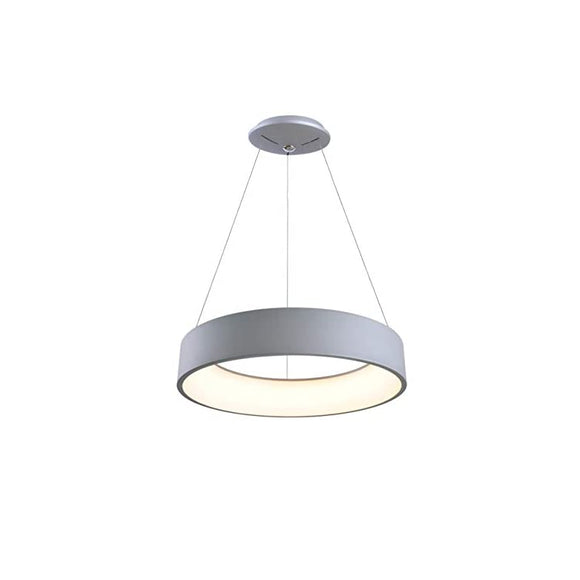 Modern-LED-Pendant,4-Inch-Height,-24-Inch-Diameter-with-Silver-Finish