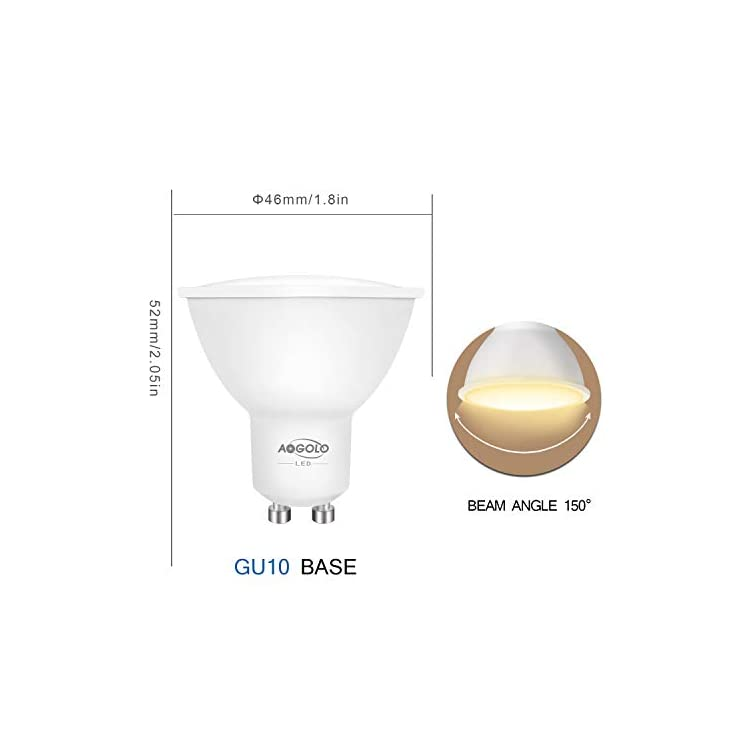 GU10-5.5Watt-LED-Light-Bulbs,Kichen-Lights,4200K-Daylight-Light-Bulbs,Spot-Lights-Indoor,Non-Dimmable,150-Degree-Beam-Angle,Replacement-for-50W-Halogen-Bulb,500-Lumens,Pack-of-6