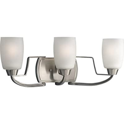 P2796-09-3-Light-Bath-Bracket-with-White-Opal-Glass,-Brushed-Nickel