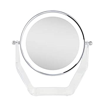 ZVLVAN38-Products-Next-generation-two-sided-led-lighted-vanity-swivel-mirror-in-acrylic-base-with-1x-and-8x-magnification,-Chrome
