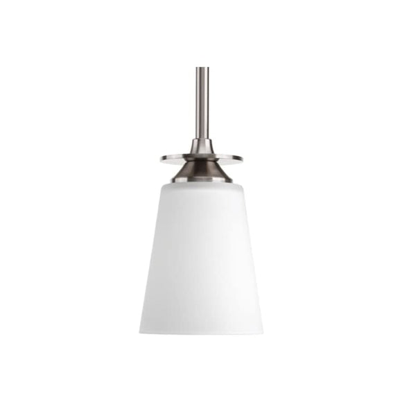 P5139-09-Transitional-One-Light-Mini-Pendant-from-Cantata-Collection-in-Pwt,-Nckl,-B/S,-Slvr.-Finish,-Brushed-Nickel