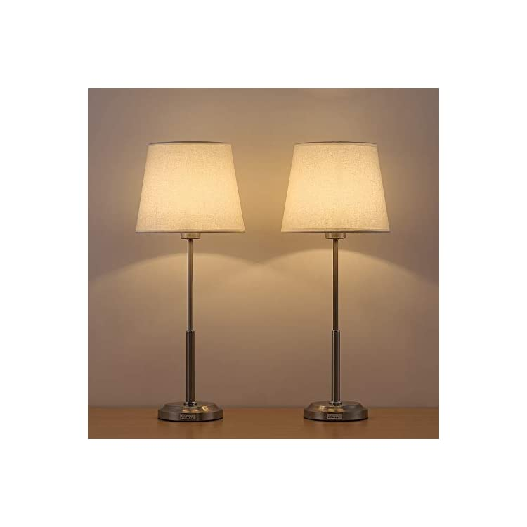 Modern-Bedside-Lamps-Set-of-2---Brushed-Nickel-Table-Lamps-with-Linen-