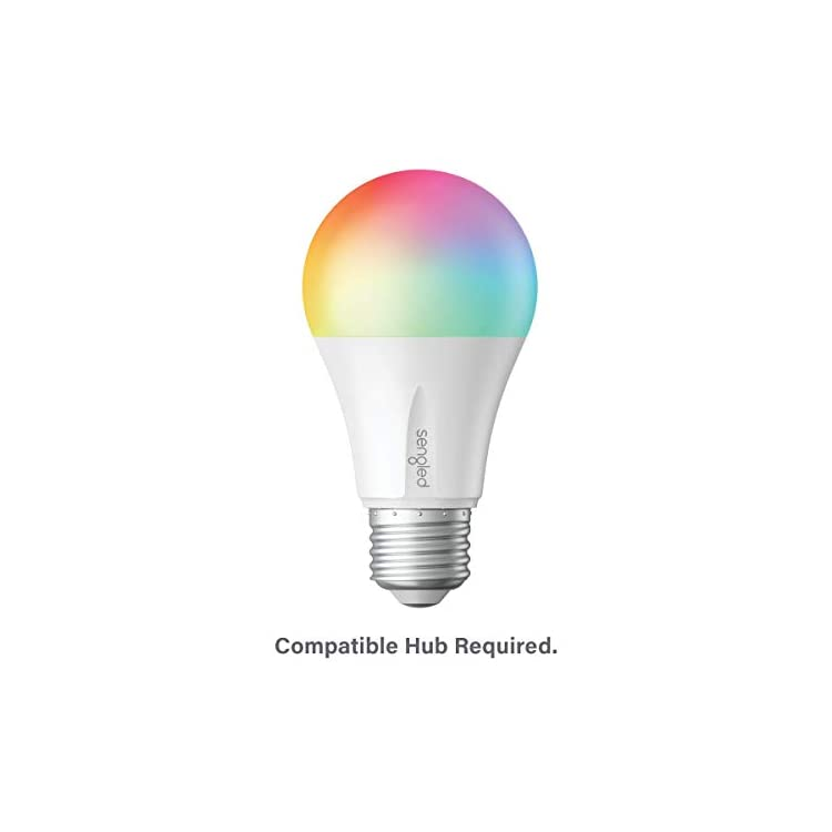 Sengled-E11-N1EA-Smart-LED-Multicolor-Bulb,-Hub-Required,-RGBW-Color-&-Tunable-White-2000-6500K,-A19-60W-Equivalent,-Works-with-Alexa,-Google-Assistant-&-SmartThings,-1-Pack-Color-Plus-(Renewed)