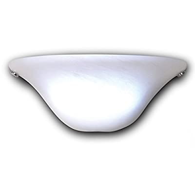 It's-Exciting-Lighting-IEL-4300-Frosted-Marble-Glass-Half-Moon-Sconce-With-Frosted-Marbleized-Glass-Shade-In-Half-Moon-Shape,-Battery-Operated-With-No-Electrical-Outlet-Required