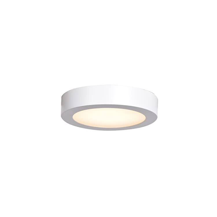 Ulko-Exterior-LED-Outdoor-Flush-Mount---7'D---White---Acrylic-Lens-Diffuser