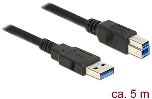 Delock Cable USB 3.0 Type-A Male to USB 3.0 Type-B Connector, 5.0 m, B