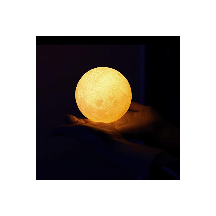Moon-Lamp-Night-Light,3D-Printing-16-Colors-Moon-Lights-with-Stand-&-Remote-&-Touch-Control-and-USB-Rechargeable-(Diameter-4.72-inch),Nursery-Lamps-for-Your-Kids,Birthday-Gift-Ideas-for-Friend/Lover