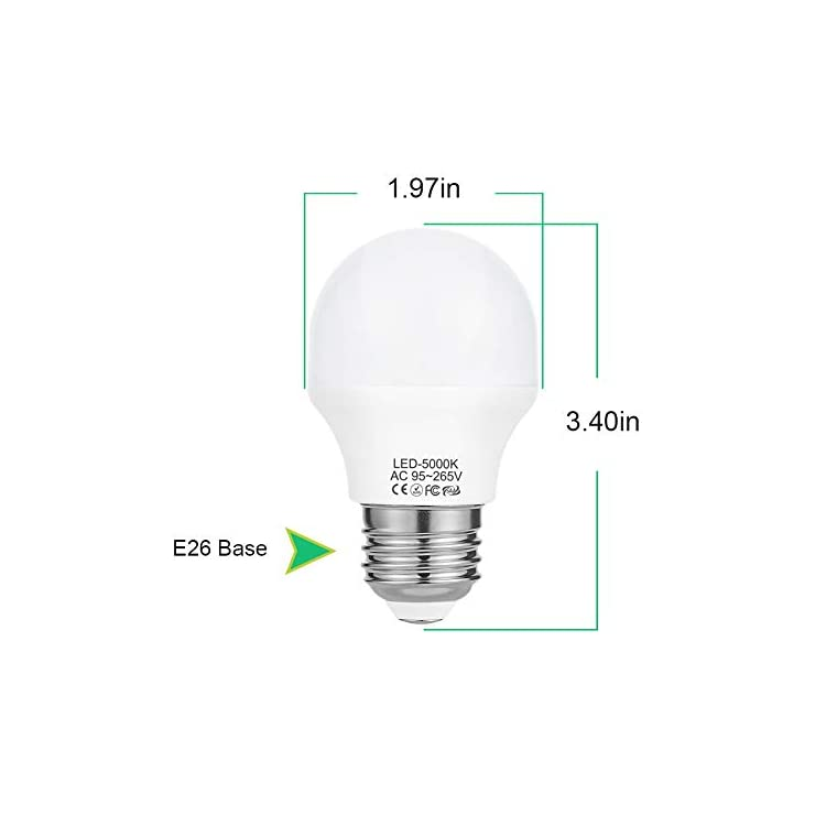 A15-Bulb-Daylight,-4W-E26-LED-Bulb(40W-Light-Bulbs-Equivalent),-Refrigerator-Light,-Non-Dimmable-5000K,-120V-430LM,-6-Pack