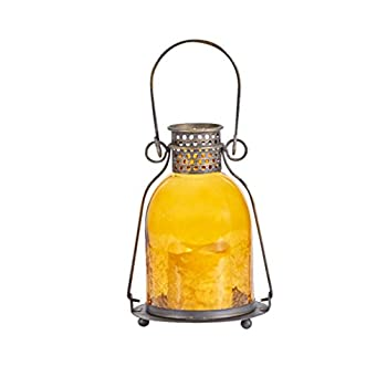 84069-LC-Monaco-Lantern-with-LED-Candle,-Antiqued-Bronze-Finished-Meta
