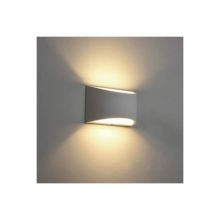 Modern-LED-Wall-Sconce-Lighting-Fixture-Lamps-7W-Warm-White-2700K-Up-and-Down-Indoor-Plaster-Wall-Lamps-for-Living-Room-Bedroom-Hallway-Conservatory-Home-Room-Decor(with-G9-Bulbs-Not-Dimmable)