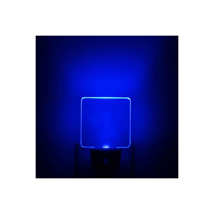 Bright-Blue-Glow,-UL-Listed,-Auto-ON/OFF-Plug-In-LED-Night-Light-with-Dusk-to-Dawn-Sensor-[Pack-of-2]