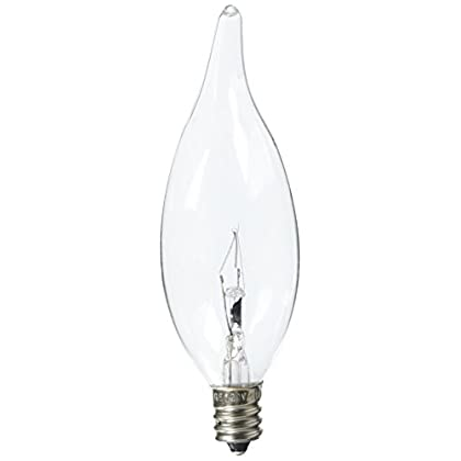 12359-Crystal-Clear-Decorative-Bent-Tip-Chandelier-Light-Bulb-(Pack-of-4)-40-Watt