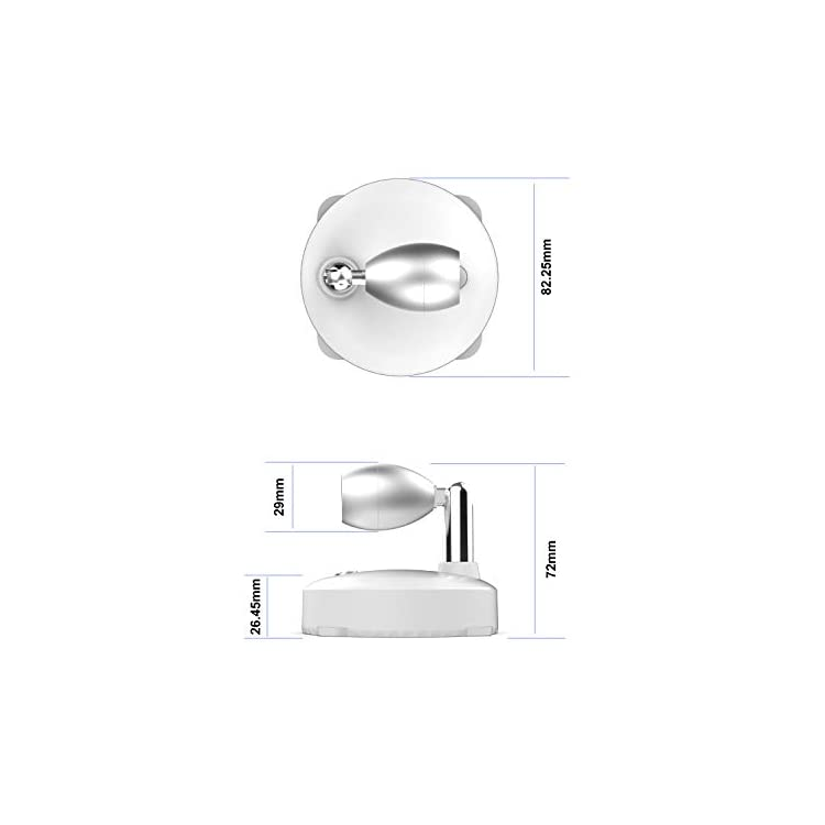 RGB-Wireless-Spotlight,LED-Puck-Light,-LED-Accent-Battery-Operated-Lights-with-Remote,-Dimmable-Puck-Light-with-Rotatable-Light-Head-for-Painting-Picture-Artwork-Closet-2pack-(Silver)