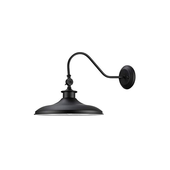 ,-Black-Swivel-Wall-Sconce,-Finish,-Frosted-Glass-Diffuser,-1x-Medium-Base-60W-Bulb-(sold-separately),-44095,-12'