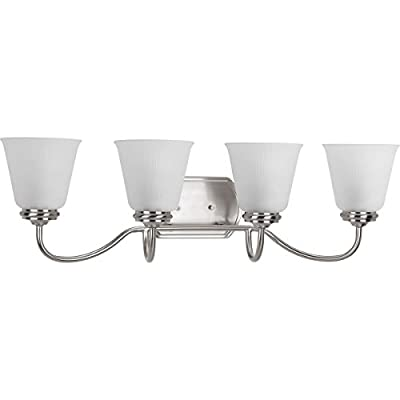 P2822-09-Transitional-Four-Light-Bath-from-Keats-Collection-in-Pwt,-Nckl,-B/S,-Slvr.-Finish,-Brushed-Nickel