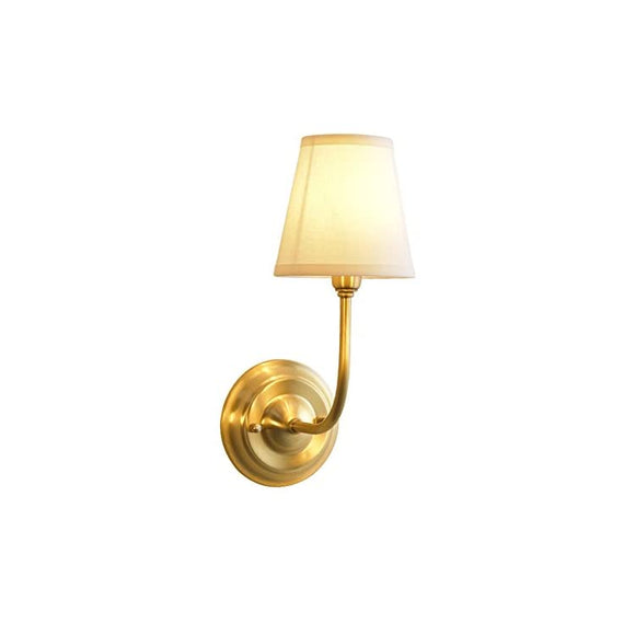 Brass-Body-Wall-Mounted-Light-Industrial-Vintage-Style-Fabric-Lampshade-Wall-Sconce-Wall-Lamp-Lighting-Fixture-for-Bedroom-Hallway-Living-Room-W5.9'-x-H15.4'