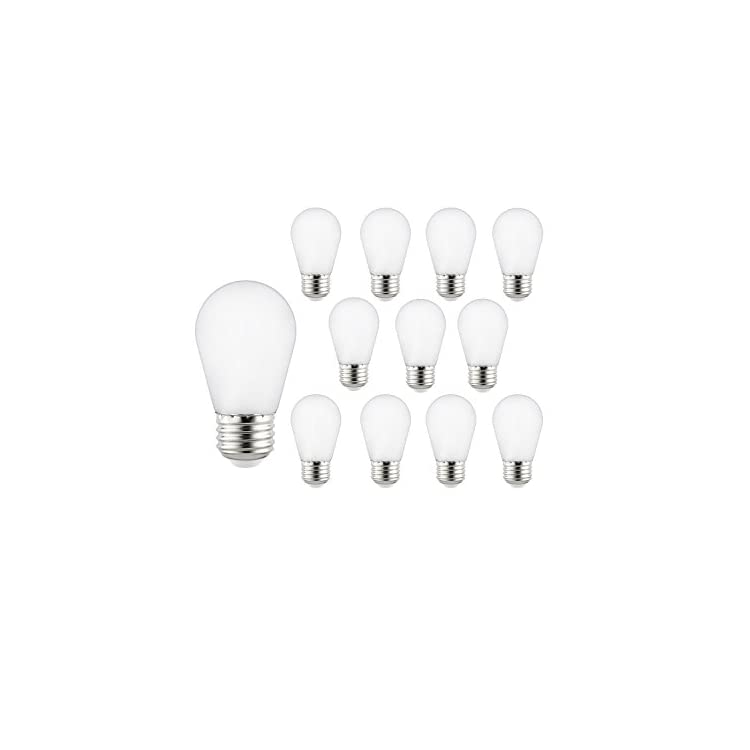 41029-SU-LED-S14-String-Light-Bulb,-12-Pack,-Frosted
