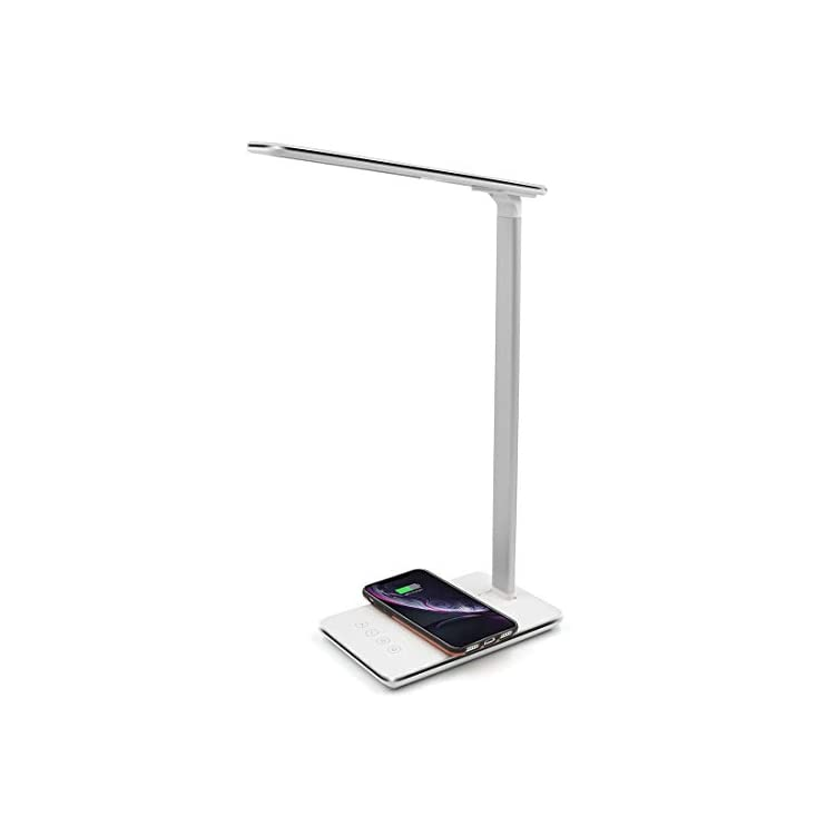 Smart-LED-Desk-Lamp-with-Wireless-Charger/USB-Charging-Port,-4-Level-C