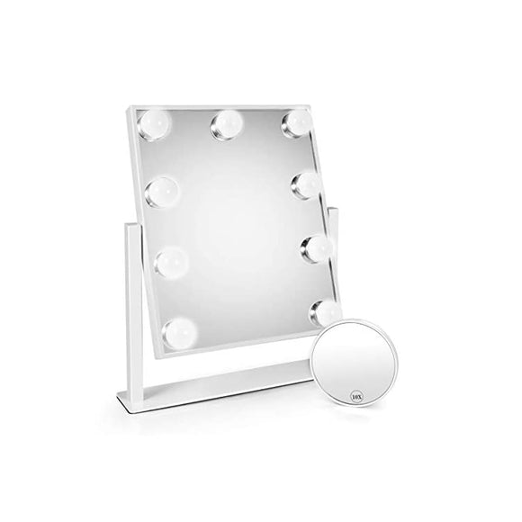 Makeup-Led-Mirror,-Lighted-Makeup-Mirrors-with-Lights-and-Magnifying-Upgraded-Cosmetic-Mirror-with-9-Dimmable-Bulbs-and-3-Color-Lighting-Modes-Hollywood-Vanity-Professional-Smart-Touch-Control-Mirror