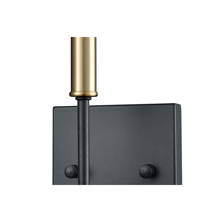 Elk-Lighting-15273/1-Vanity-Light,-Matte-Black,-Satin-Brass