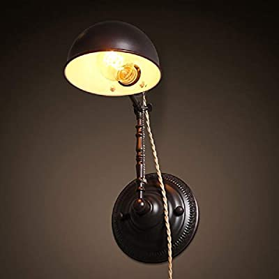 Wall-Sconce-Lamp,1-Light-Plug-in-Wall-Light-Retro-Bronze-with-Cord-and-Plug