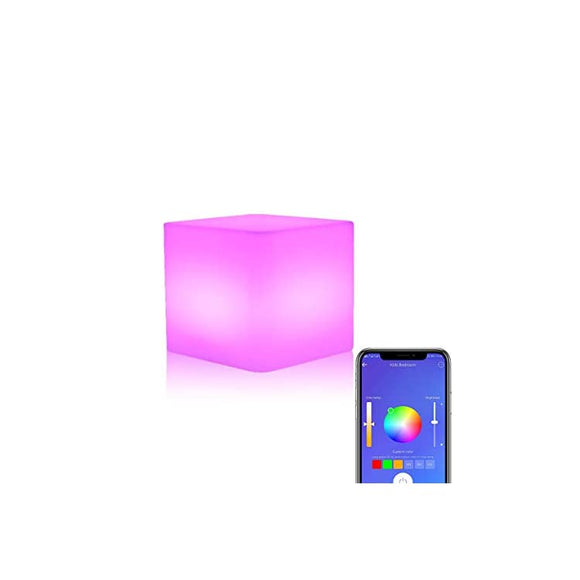 Wi-Fi-Smart-Ambient-Light-Multicolor-Dimmable-Night-Light-for-Bedrooms,Table-Lamp-for-Kids,Bedside-Lamp,Mood-Lamp,Works-with-Alexa-Google-Home,Voice-Control,Remote-Control,Chargeable,Waterproof,-Cube