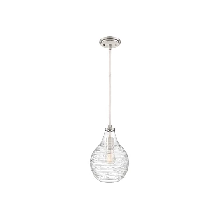 QPP4019BN-Genie-Glass-Mini-Pendant-Ceiling-Lighting,-1-Light,-100-Watt