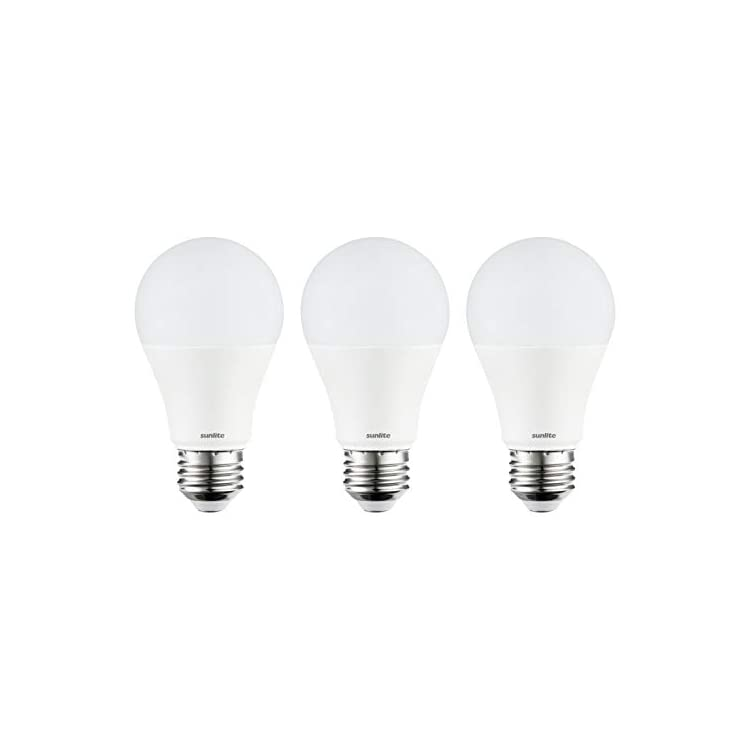 80853-SU-LED-A19-Light-Bulb,-Non-Dimmable-11-Watt-(75W-Equivalent),-1100-Lumens,-Medium-(E26)-Base,-UL-Listed,-3-Pack,-65K---Daylight