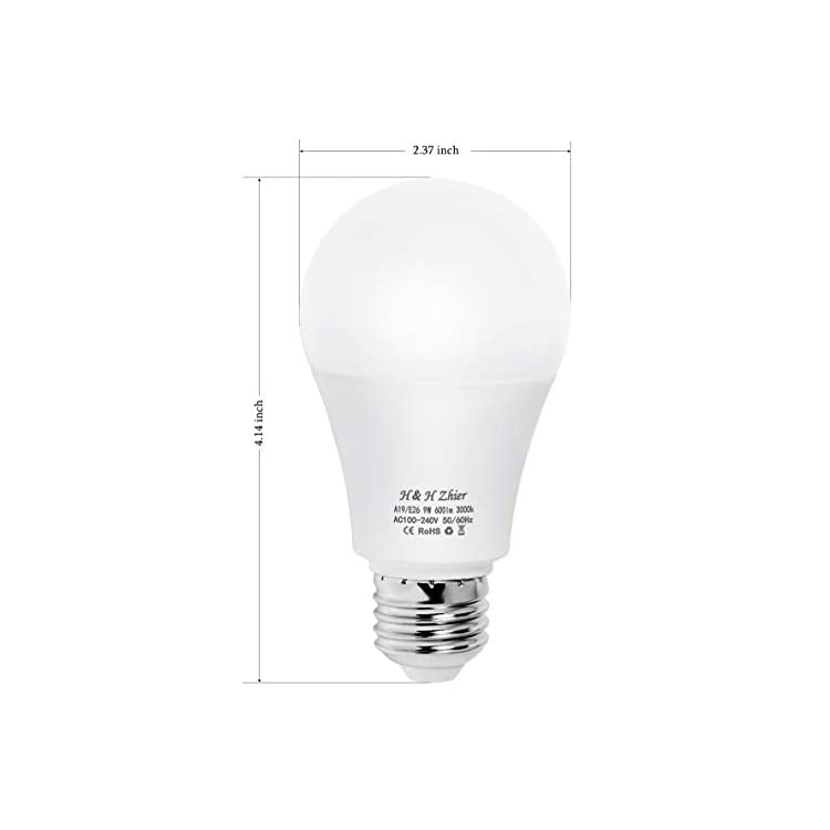 Dusk-to-Dawn-Light,-9W-3000K(Warm-White)-Sensor-Bulbs,-E26-Auto-on/Off-Outdoor-Light-Bulbs,-Indoor/Outdoor-Lighting-Lamp-for-Porch,-Hallway,-Patio,-Garage(2-Pack)