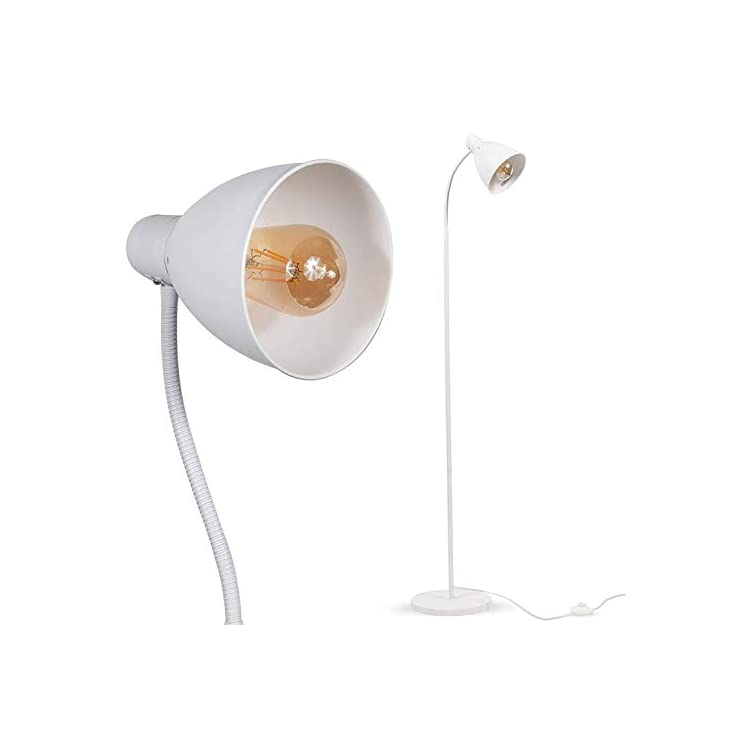 Sol-Set-of-2-Adjustable-Reading-Floor-Lamp-with-Foot-Control-On-Off-Sw