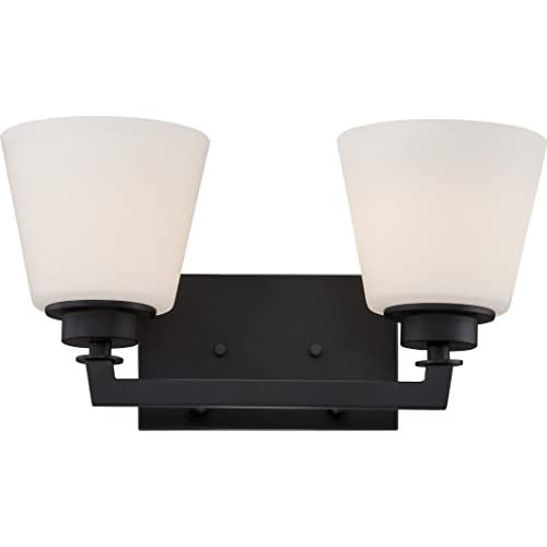 60/5552-Two-Light-Fixture-Vanity,-Bronze/Dark