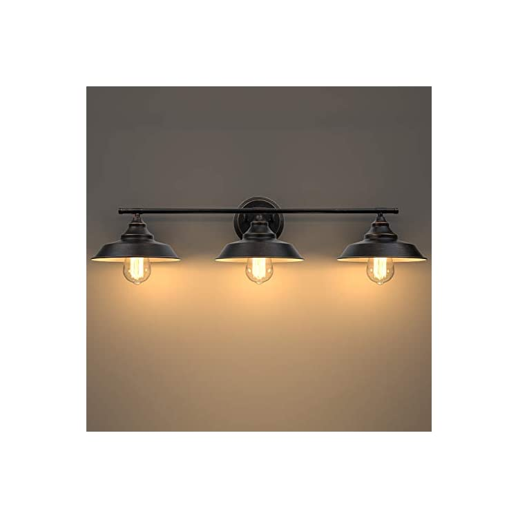 Bathroom-Vanity-Light-3-Light-Wall-Sconce,-Industrial-Wall-Mount-Lamp-Shade-with-E26-Base-Socket,-Farmhouse-Rustic-Style-Vintage-Lighting-Fixture-for-Bathroom-Kitchen-Living-Room,-Dark-Bronze