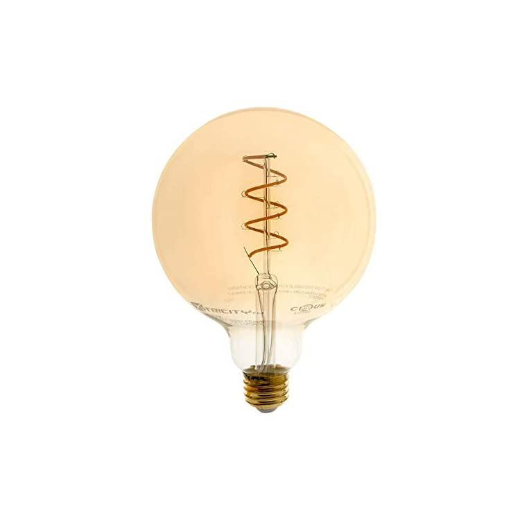 Vintage-Globe-LED-Bulb,-Edison-Style-Spiral-Filament,-Dimmable,-7W-(40-Watt-Equivalent),-G40,-E26-Medium-Base,-2200k-Soft-White,-280-Lumens,-UL-Listed