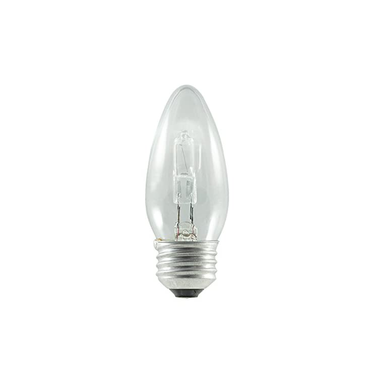 616602-43B11/ETC/ECO-43W-ECO-Halogen-B11-Torpedo-Chandelier-Bulb-(2-Pack),-Clear