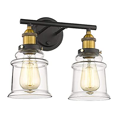 Bathroom-Vanity-Light-Fixtures-|-21-Inches-Hallway-Wall-Sconce-Antique-Brass-Black-Bath-Vanity-Lamp---BXG002-Series