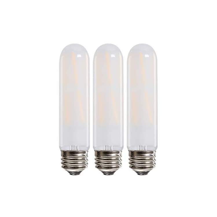 Leools-T10-Led-Bulb,-8W-Dimmable-Led-Tubular-Bulbs,-75-Watt-Incandescent-Bulb-Equivalent,-2700K-Soft-Warm-White,-Frosted-Glass,-E26-Medium-Base-Lamp-Bulb,-for-Cabinet-Display-Cabinet-etc,3-Pack.
