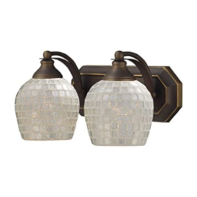 Elk-570-2B-SLV-2-Light-Vanity-in-Aged-Bronze-and-Silver-Mosaic-Glass