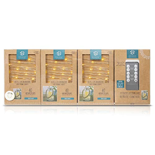 Home-Collection-Dimmable-LED-String-Lights-3-PK,-Auto-Timer-+-1-Remote,-10ft./3m-w/-40-Warm-White-LEDs-per-Set,-Battery-Powered,-Best-Home-Décor,-Arts-and-Crafts,-Candle-and-Steady-Bright-Modes