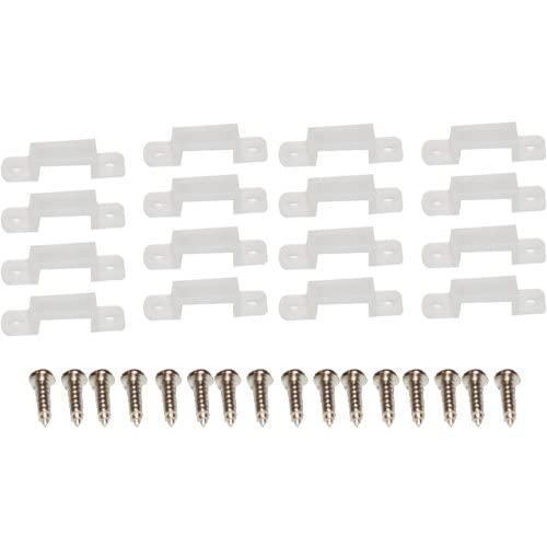 TL-Clips-LED-Mounting-Clips-with-Screws-for-LED-FlexForm-Tape-Light,-Clear,-16-Pack