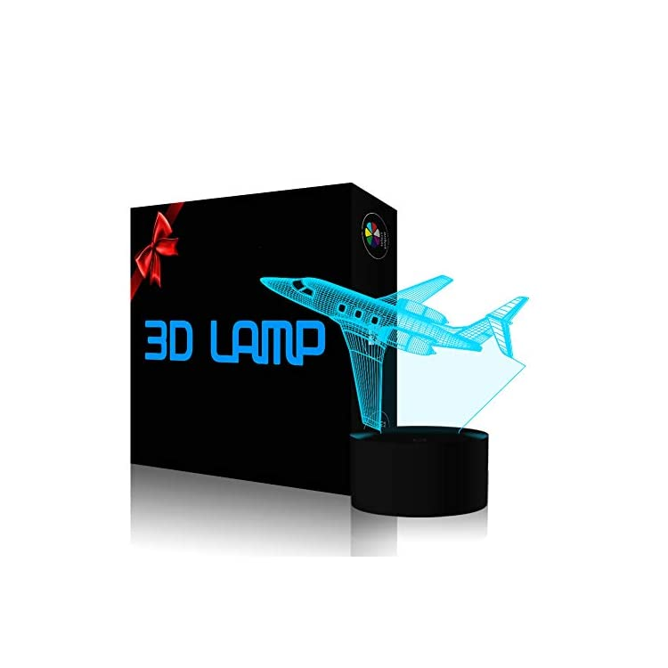 Creatively-3D-Plane-Lights-LED-Airplane-Night-Light,-YKL-World-3D-Aero