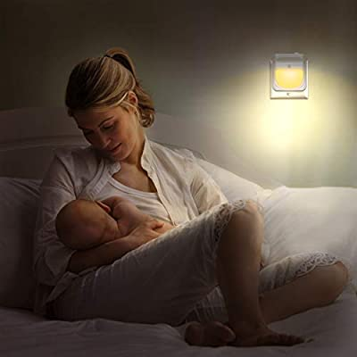 Plug-in-Night-Light-for-Kids-Dimmable---Color-Changing-LED-Nightlight,-Dusk-to-Dawn,-Warm-White-Night-Lamp-for-Baby-Room,-Bedroom,-Hallway,-Kitchen,-Bathroom,-Stairs-(RGB-2PC)