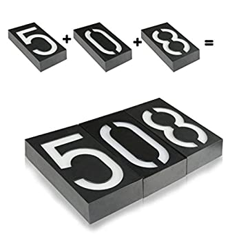 Door-Number-8,House-Address-Numbers-Black-Box-Battery-Operated-Solar-L