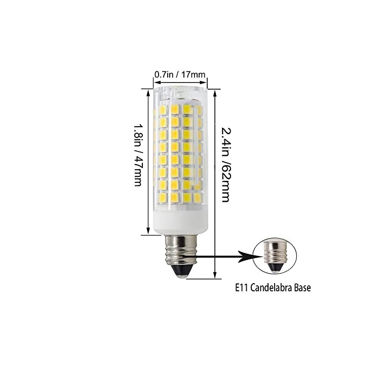 All-New-(102LEDs)-E11-Led-Bulbs,-80W-or-100W-Equivalent-Halogen-Replacement-Lights,-Dimmable,-Mini-Candelabra-Base,-850-Lumens-Daylight-White-6000K,-AC110V/-120V/-130V,-Replaces-T4-/T3-JD-e11,4-pack
