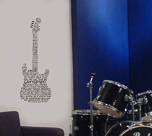 Simple-Man-Lyrics-Wall-Art-Guitar-Wall-Decal-Simple-Man-Lyrics-Wall-De
